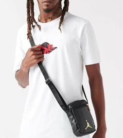 Air Jordan Premium Leather Black Unisex Nike Shoulder Bag