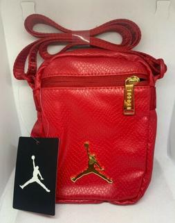 Air Jordan Premium Leather Red Nike Shoulder Bag