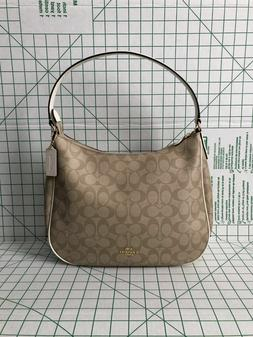 Coach F29209 Zip Shoulder Bag in Signature Coated Canvas Lig