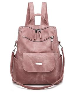 Fashion Leather Backpack Purse Casual Convertible Travel Sho
