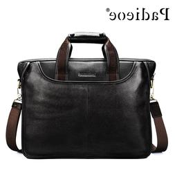 Padieoe <font><b>Deluxe</b></font> Genuine Cow Leather Busin