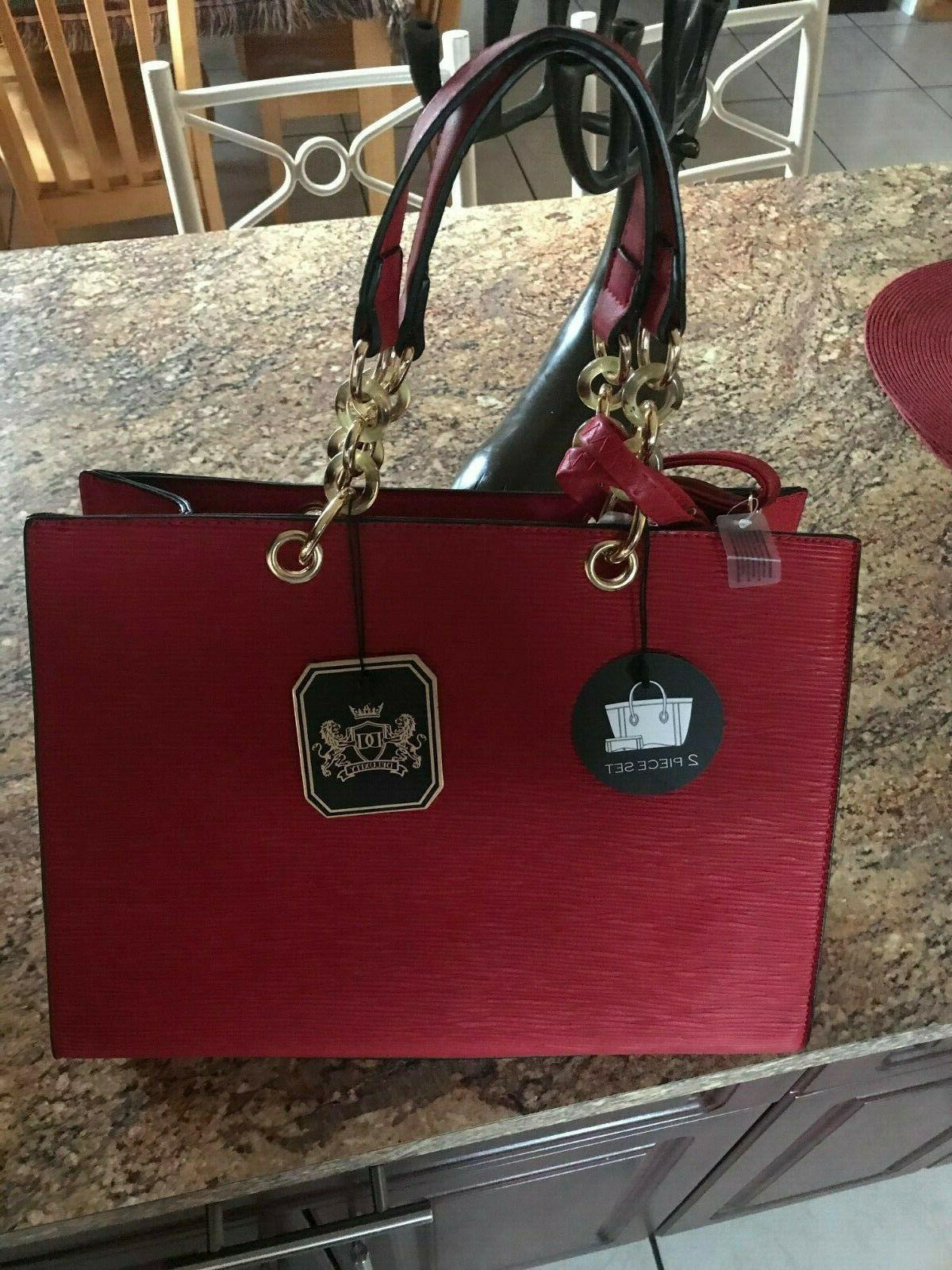 brand new red handbag with tag