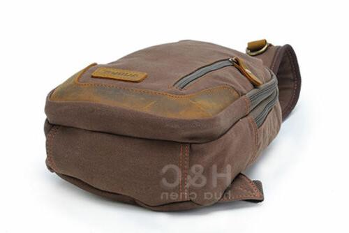 Canvas Military Travel Pack Shoulder Sling Bags