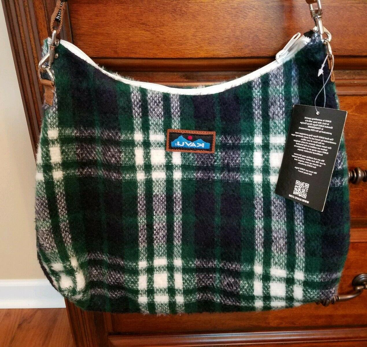 fairview americana shoulder strap rope green plaid