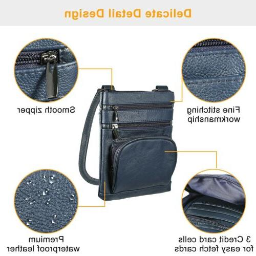 Leather Crossbody Phone Case Shoulder Pouch Wallet