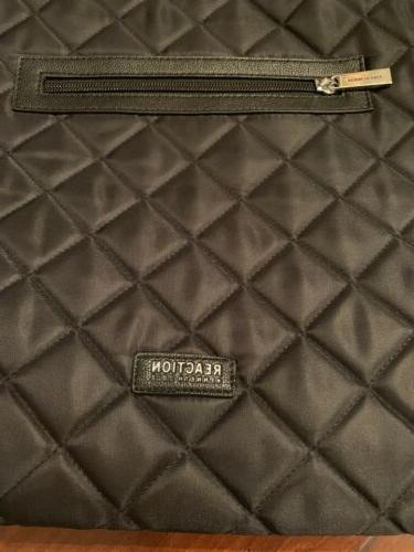 New Kenneth Cole Black Nylon Quilted Tote Shoulder