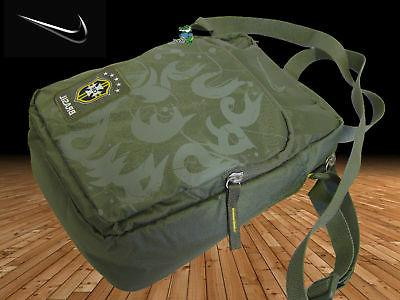 New NIKE BRAZIL Football Unisex Bag Olive Green