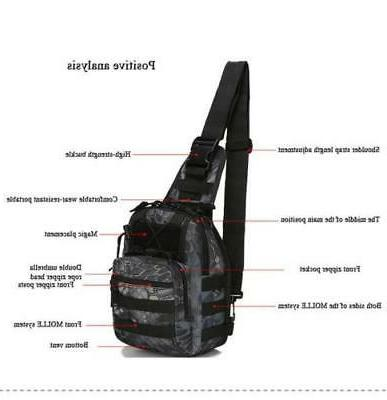 Outdoor Military Tactical Pack Bag Climbing Shoulder Bags