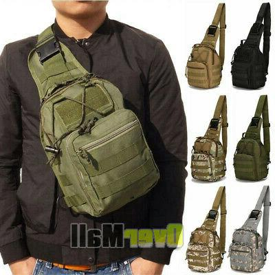 outdoor military tactical chest pack bag hiking