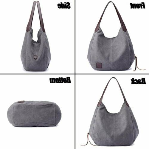 Women Canvas Bags Large Travel Tote Purse US