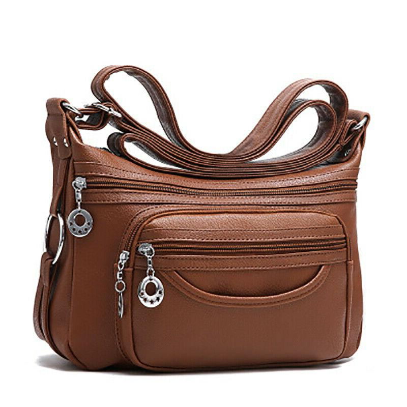Women's Soft Leather Casual Purse Shoulder Handbags Satchel