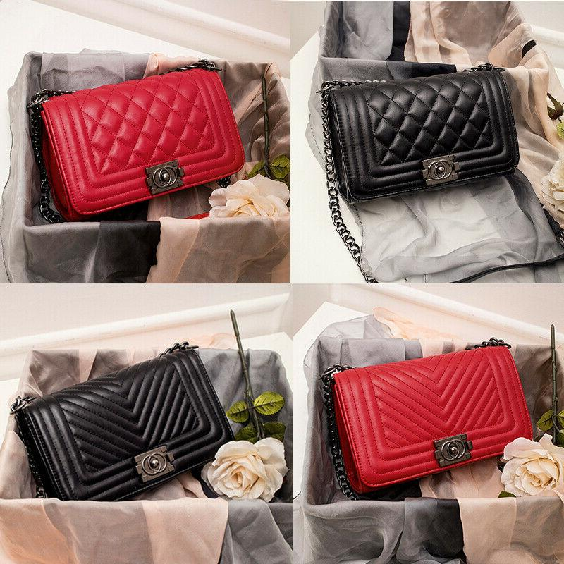 women s quilted chain black bag ladies