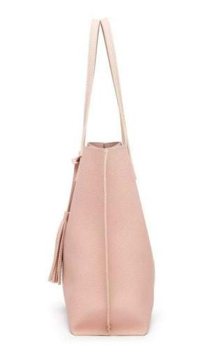 Women's Soft Faux Leather Tote Bag Dreubea, Capacity Pink