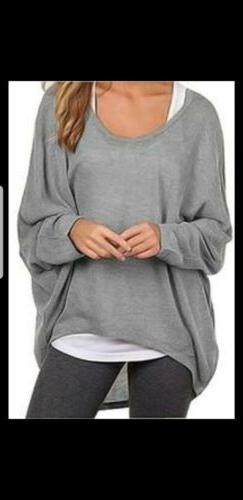 UGET Women's Sweater  Size L Casual Oversized Baggy Off-Shou