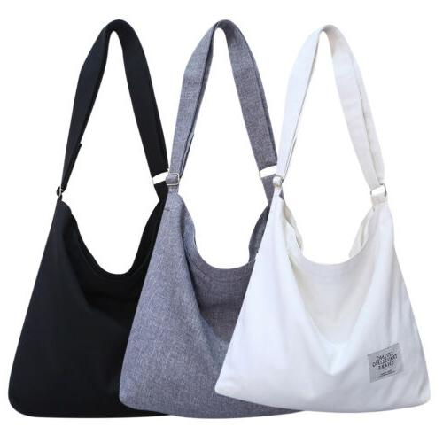 Women Canvas Hobo Crossbody Shoulder Tote Bags Large Pouch T