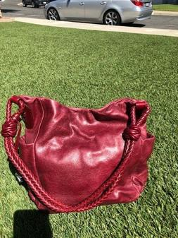 Leather Burgundy Brighton purse with outside pockets NWT - R