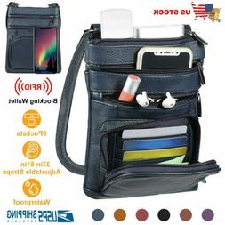 Leather Crossbody Bags Cell Phone Case Shoulder Bag Pouch Ha