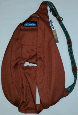 New With Tags KAVU Clay/Brown Mini Rope Sling/Crossbody/Back