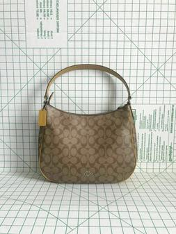 NWT Coach F29209 Zip Shoulder Bag in Signature Coated Canvas