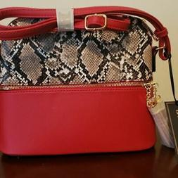 Deluxity Red snakeskin Purse FREE SHIPPING