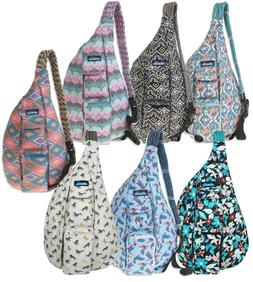 KAVU Rope Bag Cotton Canvas Sling Crossover Purse Rope Shoul