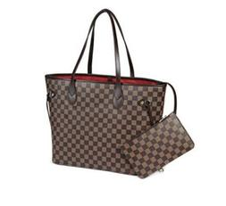 Daisy Rose Checkered Tote Shoulder Bag with inner pouch-PU V