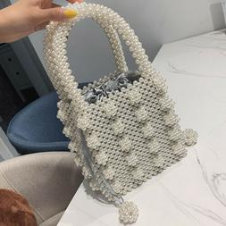 Women Bags Pearl Beaded Handbags Evening Bag Clutch Shoulder