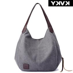 Women's Canvas Handbags High Quality Female Hobos Single Sho