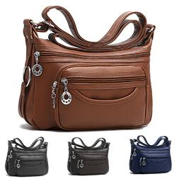 Women's Casual Purse Shoulder Soft Leather Handbags Satchel