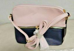 Deluxity Women's Crossbody Shoulder Bag Black and Pink NWT