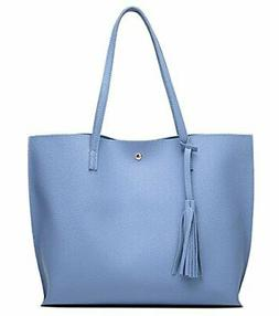 Women's Soft Faux Leather Tote Shoulder Bag from Dreubea Big