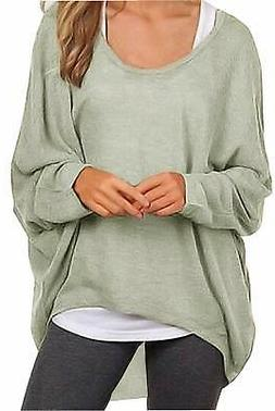 UGET Women's Sweater Casual Oversized Baggy Off-Shoulder Sle