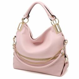 Dasein Womens Handbags Faux Leather Hobo Large Shoulder Bag
