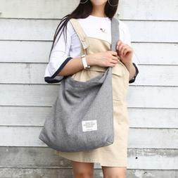 Womens Canvas Big Handbag Shoulder Bags Tote Purse Casual Me